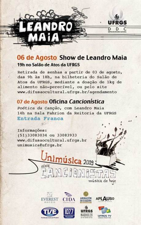 Cartaz do show do Leandro Maia